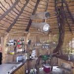 Inside the bar hut