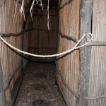 Put the rope over the doorway to indicate occupied